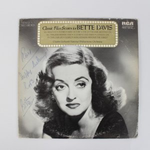Actress/Singer Bette Davis Signed Record