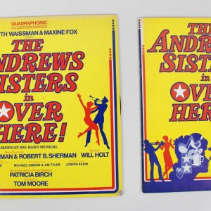 Over Here! Musical Signed Program by Andrew Sisters Patty & Maxene