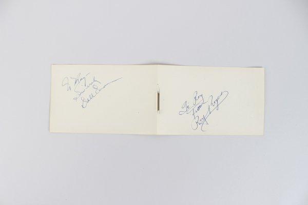 Actors Dale Evans & Roy Rogers Signed 4x6 Cut