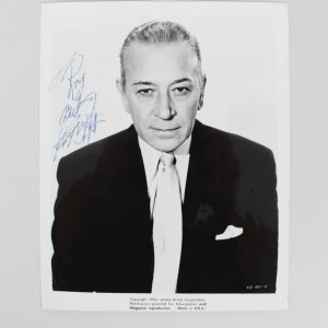 Actor George Raft Signed 8x10 Photo