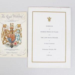 1981 The Royal Wedding Invited Guest Invitation & Celebration Programs - Prince Charles & Lady Diana Spencer