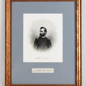 Civil War Union General - Lew Wallace Signed Cut with Photo Display (JSA)