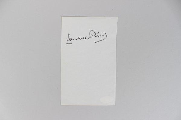 Actor Laurence Olivier Signed 4x6 Cut (JSA)