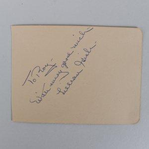 First Lady of American Cinema Lillian Gish Signed 3x4 Cut (JSA)