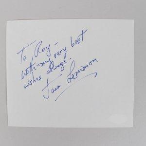 Actor/Musician Jack Lemmon Signed 5x6 Cut (JSA)