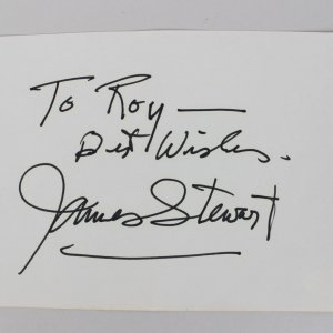 James Stewart Signed 4×6 Cut (JSA)