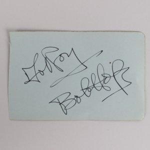 Bob Hope Signed 3x5 Cut (JSA)