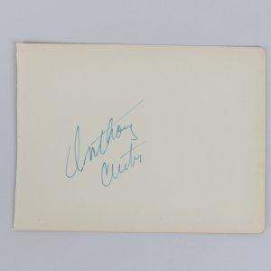 Actors Anthony Curtis & Alexander Knox Signed 5x6 Cut (JSA)