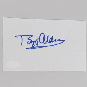 Buzz Aldrin Signed 3x5 Cut (JSA)