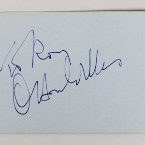 Orson Welles & Albert Schweitzer Signed 3x5 Cut
