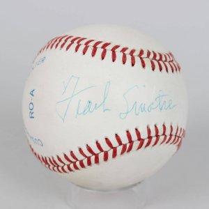 Frank Sinatra Signed OAL (Brown) Baseball