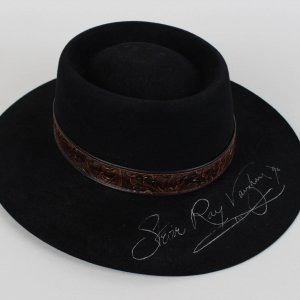Rock 'n' Roll Legend - Stevie Ray Vaughan Worn, Signed Hat (Auction LOA, Photo Match)