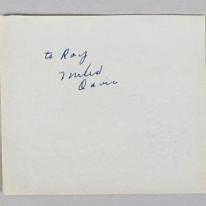 "Miles DAVIS (Jazz): Signed 5 1/2"" x 6 1/2"" Album Page JSA Full Letter"