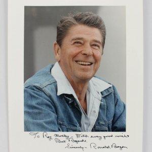 President - Ronald Reagan Signed & Inscribed 8x10 Photo (JSA)