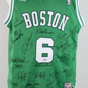 Boston Celtics HOFers Signed Russell Jersey - 25 Signatures