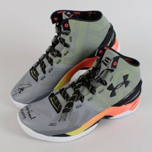 "Warriors - Stephen Curry Signed ""Baby Faced Assassin"" Under Armour Sneakers Shoes (Fanatics)"