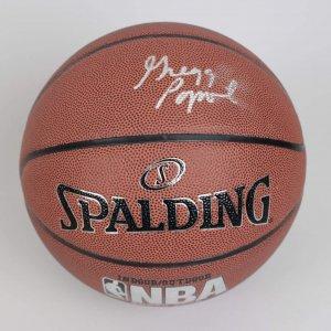 Spurs Coach - Greg Popovich Signed Basketball (JSA)