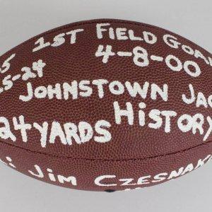 1998-IFL - Jackals - Jim Czesnakowski Game-Used Football