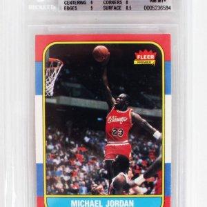 1986-87 Fleer Basketball - Michael Jordan Rookie Card (#57) BGS Graded 8.5 NM-MT+