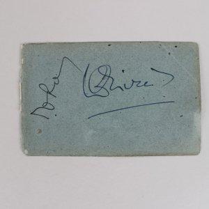 Actor - Laurence Olivier Signed 3x4 Cut (JSA)