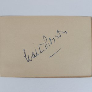Actor - Walter Pidgeon Signed 4x6 Cut (JSA)