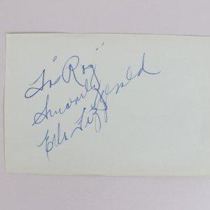 Queen of Jazz - Ella Fitzgerald Signed & Inscribed 4x6 Cut (JSA)