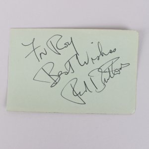 Red Buttons Signed & Inscribed 3x5 Cut (JSA)