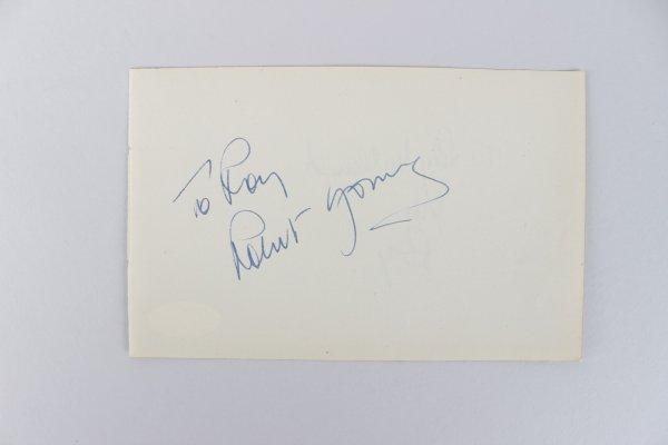 Actors - Robert Young & Ray Milland Signed 4x6 Cut (JSA)