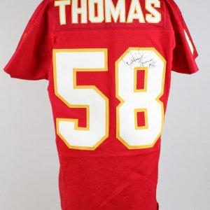 Rare Kansas City Chiefs - Derrick Thomas Signed & Inscribed Home Jersey (JSA Full LOA)
