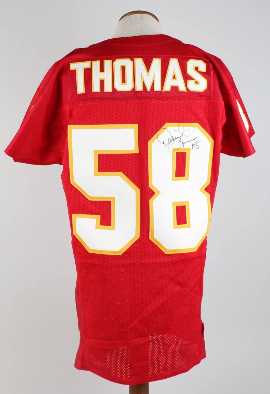 Rare KC Chiefs - Derrick Thomas Signed & Inscribed Home Jersey - JSA Full LOA