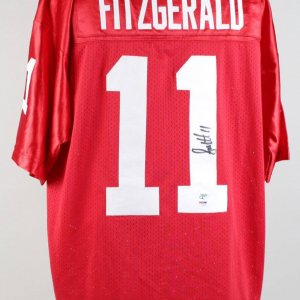 Cardinals Larry Fitzgerald Signed Jersey (PSA)