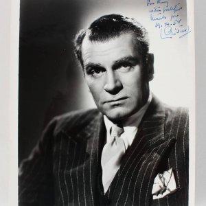 Actor - Laurence Olivier Signed & Inscribed 8x10 Photo (JSA)