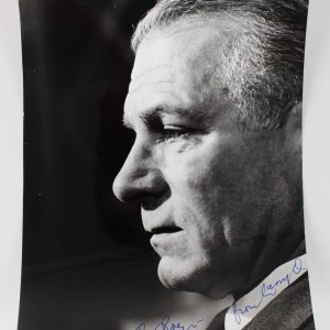 Actor - Laurence Olivier Signed 8x10 Photo (JSA)