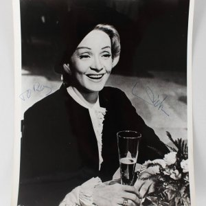Actress - Marlene Dietrich Signed 8x10 Photo (JSA)