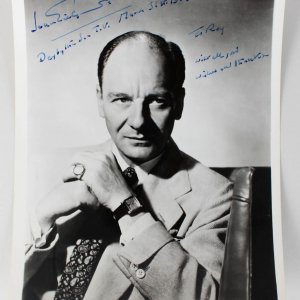 Actor - John Gielgud Signed & Inscribed 8x10 Photo (JSA)