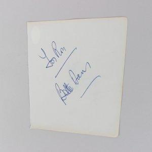 Henry Armstrong & Bette Davis Signed 5x6 Cut (JSA)