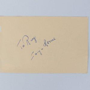 Sonja Henie & Marc Lawrence Signed 4x6 Cut (JSA)