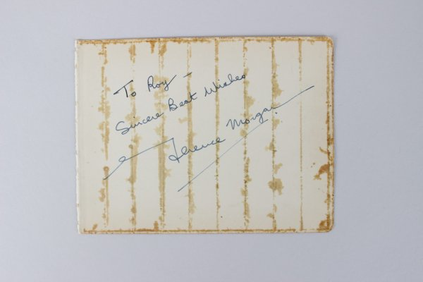 Terence Morgan & Richard Widmark Signed 4x5 Cut (JSA)