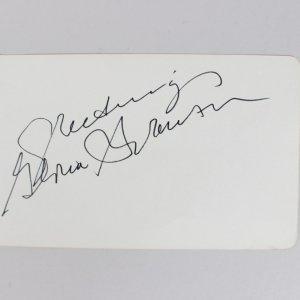 Actress - Gloria Swanson Signed 4x6 Cut (JSA)