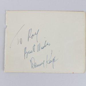 Actor - Danny Kaye Signed 4x6 Cut (JSA)
