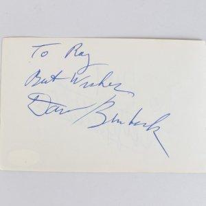 Dave Brubeck & Edwige Feuillère Signed 4x6 Cut (JSA)