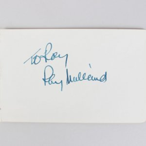 Actor - Ray Milland Signed 4x6 Cut (JSA)