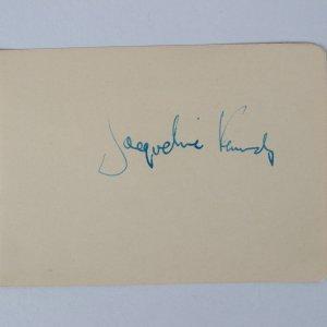 "Jacqueline Kennedy Signed 3"" x 4 1/4' H Cut Album Page (JSA)"