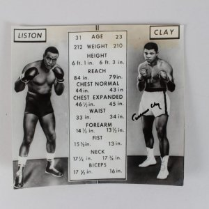 Cassius Clay Signed 6 1/4 x 6 3/4 Photo (JSA Full Letter)