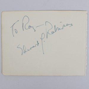 Little Caesar - Edward G. Robinson Signed 4x5 Cut (JSA)