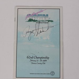 1962 Payne Stewart Signed LA Open Riviera Country Club (JSA)