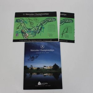 1998 Golf Tournament Multi-Signed Program- Tiger Woods, etc (JSA)