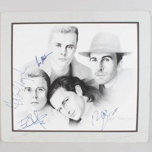 1988 Rock Band U2 Signed Artist Print Bono, The Edge, Adam Clayton & Larry Mullen, Jr. (JSA Full LOA)