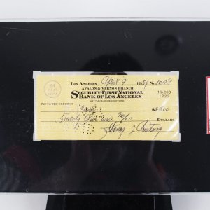Henry Armstrong Signed Personal Check ( SGC ) Slab