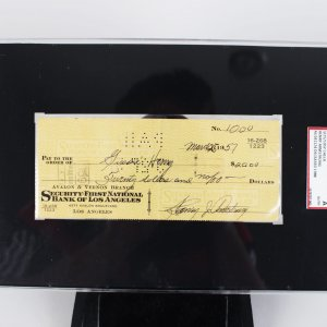 Henry Armstrong Signed Personal Check (SGC ) SLAB